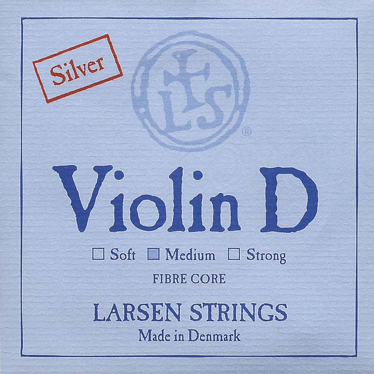 Larsen Violin D String - silver/spiral alloy: Medium
