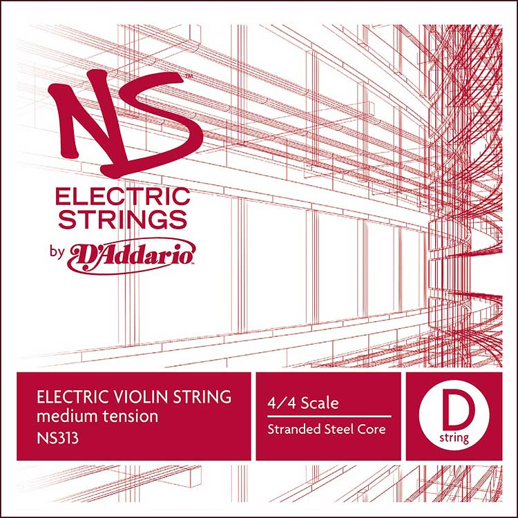 NS Electric 4/4 Violin D String - stranded steel core: Medium