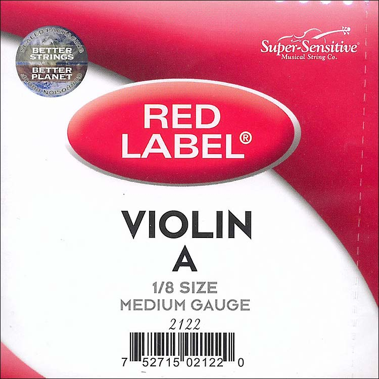 Red Label 1/8 Violin A String - nickel/steel