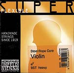 Superflexible Violin E String - alum/steel: Heavy, ball end