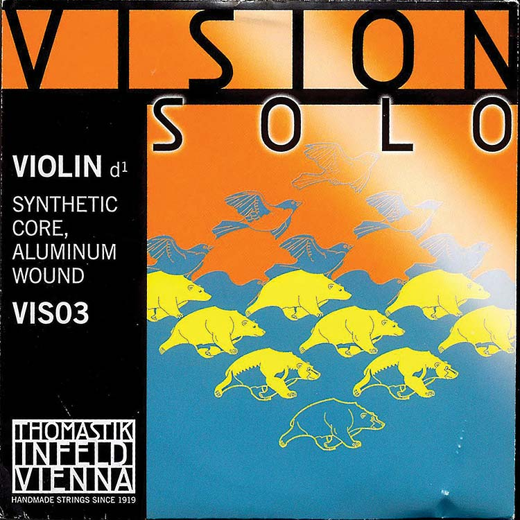 Vision Solo Violin D String - alum/synthetic: Medium