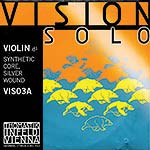 Vision Solo Violin D String - silver/synthetic: Medium