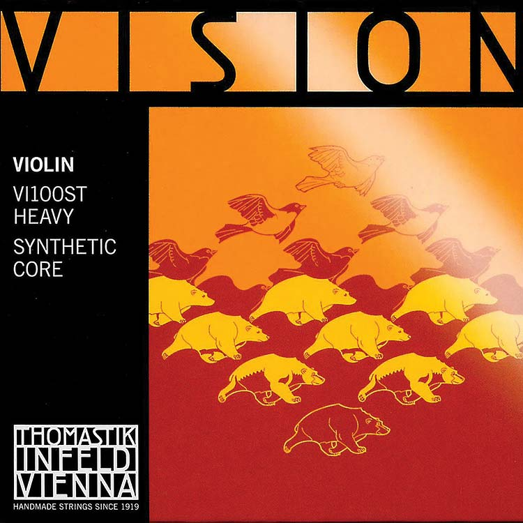 Vision Violin String Set - Thick/Stark, removeable ball end E