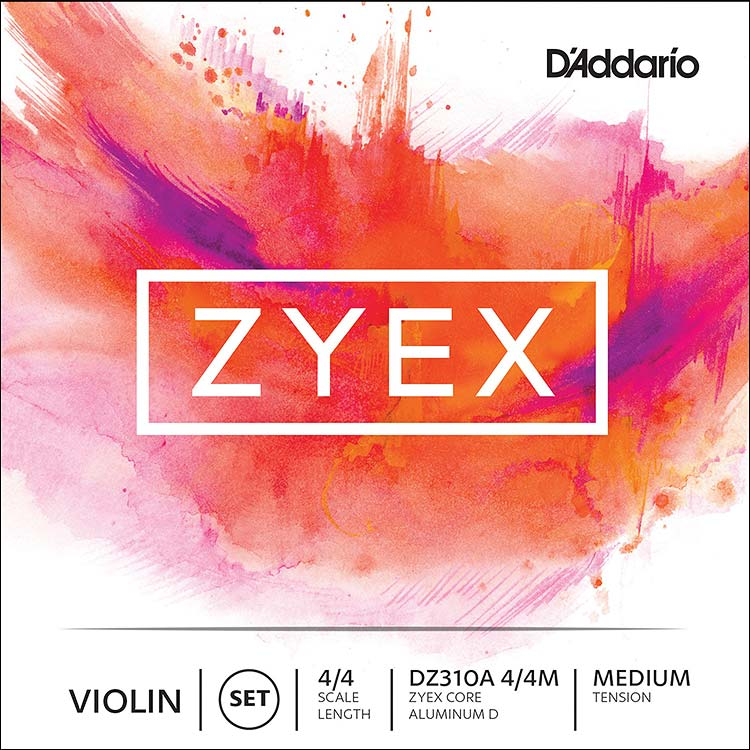 Zyex Violin String Set - Medium, removable ball end E