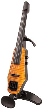 NS Design WAV-5 Electric 5-String Amberburst Violin with Custom Case