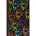 "Journal: Lined Paper - Music Notes Cover 5 1/4"" x 8 1/4"""