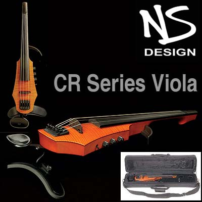 NS Design CR4 4-String Electric Amber Viola with Custom Case