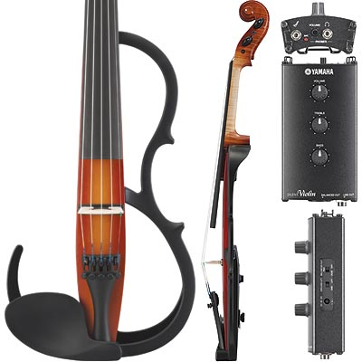 Yamaha sv 255 pro silent electric brown 5 string violin ebay for Yamaha electric violin