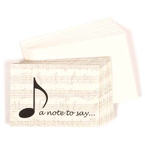 A Note To Say... - Boxed set, 10 Cards & 10 Envelopes