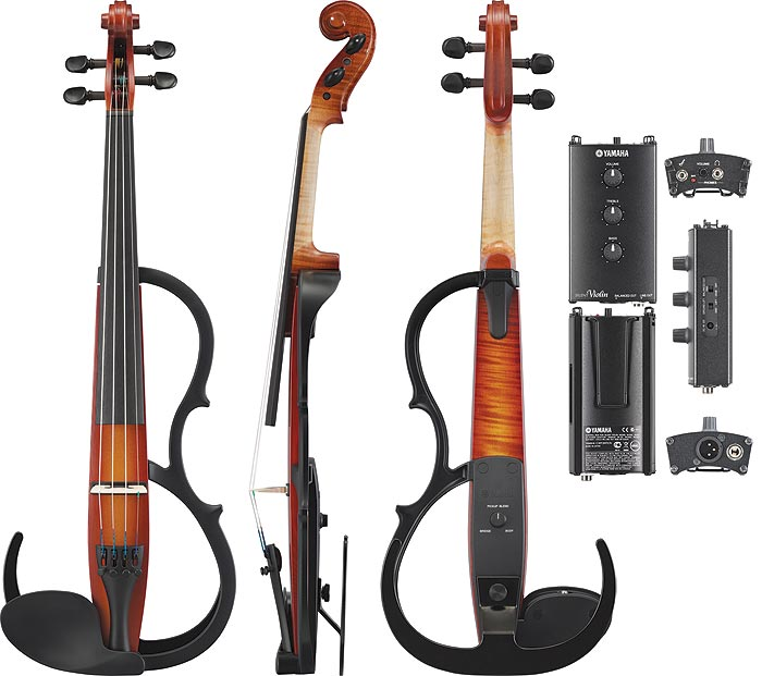 Yamaha sv 250 professional silent electric 4 string violin for Yamaha electric violin