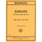 Sonata in E minor, opus 38, for cello and piano (edited by Jeffrey Solow); Bernhard Romberg (International Music Company)