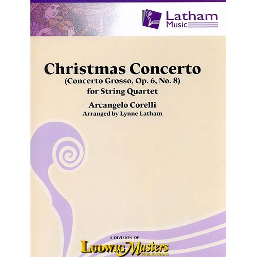 Christmas Concerto, op. 6, no. 8, string quartet, score and parts; Arcangelo Corelli (Latham Music)