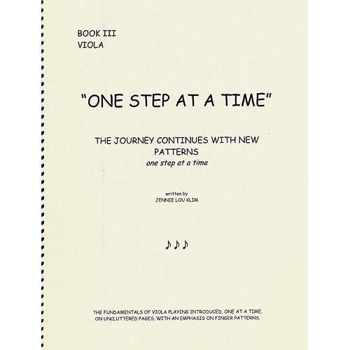 One Step at a Time, book 3, viola; Klim (JLK)