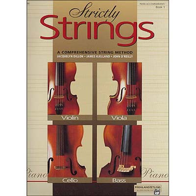 Strictly Strings, book 1 piano accompaniment for violin, viola, cello, and bass (Alfred)