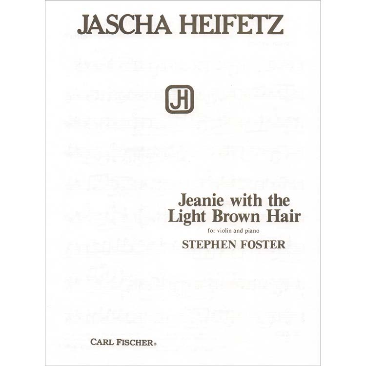 Jeannie With the Light Brown Hair, for violin and piano