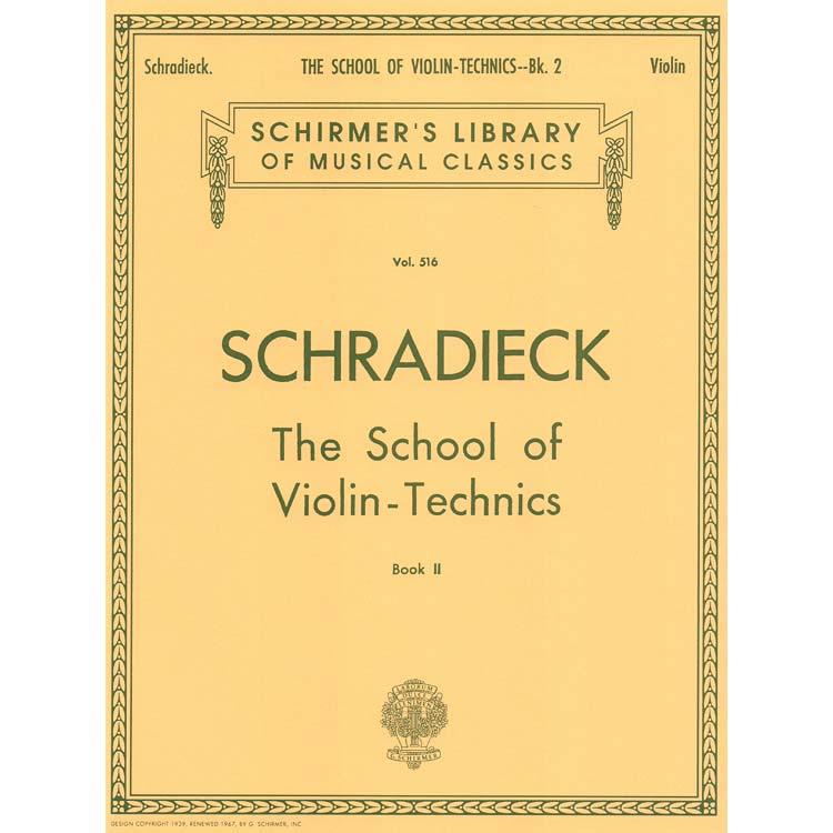 School of Violin Techniques, Book 2