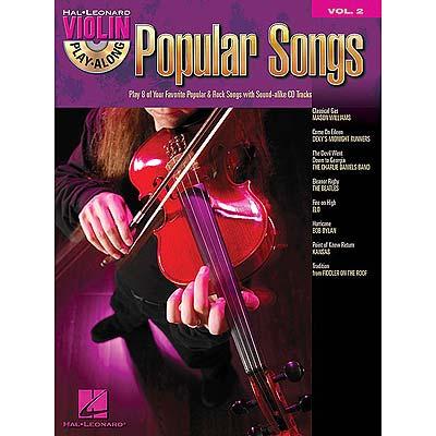 Popular Songs Violin Play Along Book Cd Hal Leonard
