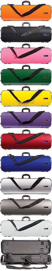Galaxy Zenith 500 3G Oblong Violin Case, Red/Gray