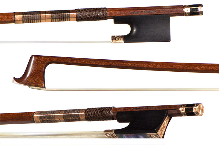 W. E. Hill and Sons engraved gold-mounted viola bow