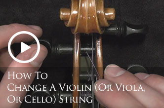 How To Change A Violin (Or Viola, Or Cello) String
