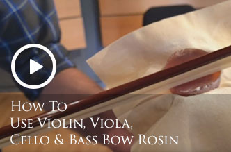 How To Use Violin, Viola, Cello & Bass Bow Rosin