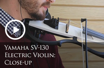 Yamaha SV-130 Electric Violin: Close-up